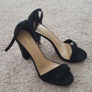 Express ankle strap heel sandal